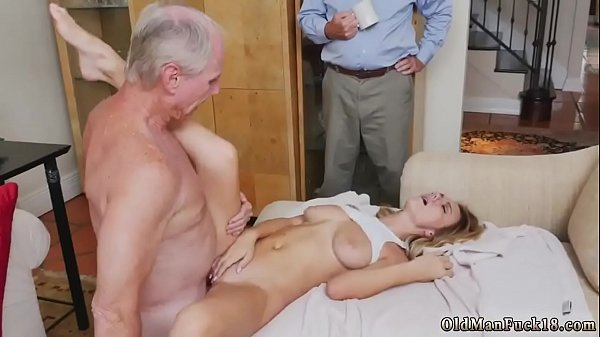 Mom and daughter, Old mom, Man, Old man fuck