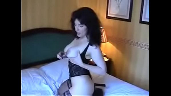 Stockings, Bed, Milf mom, Mom bed, Stockings mom, On bed