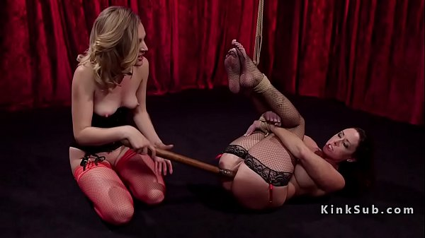 Tied, Strap on, Tied up, Anal brunette