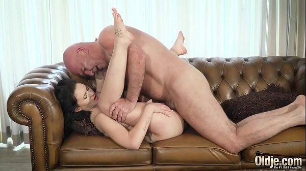 Grandpa, Teen old, Young and old, Teen tits, Shaved pussy, Young tits