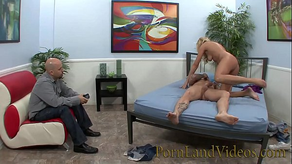 Hot blonde, In front of husband, Blonde wife